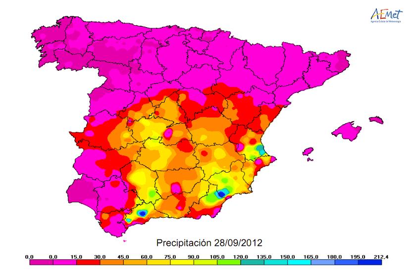gota fria en España