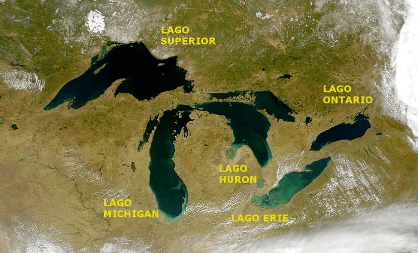 Los 5 Grandes Lagos de norteamérica