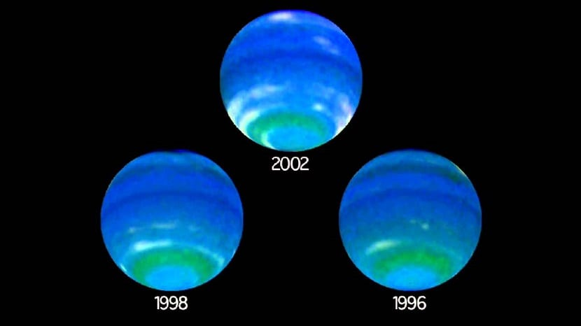 Rotación del planeta Neptuno