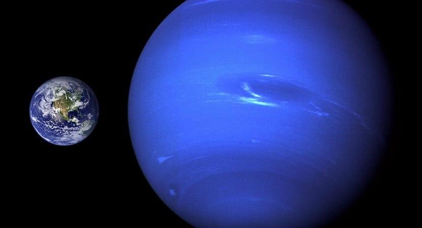 Tamaño de Neptuno con la Tierra