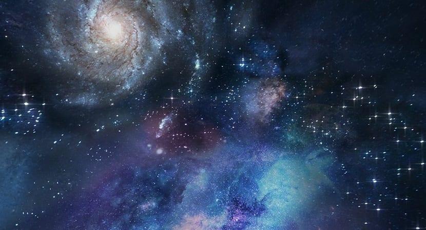 Colisión entre dos galaxias