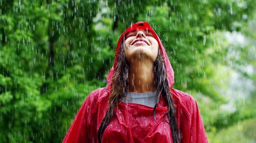 Olor agradable de lluvia