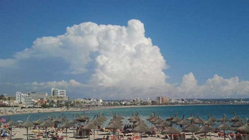 Formación de nubes de chubasco