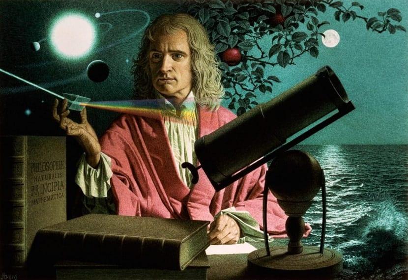 Newton estudiando