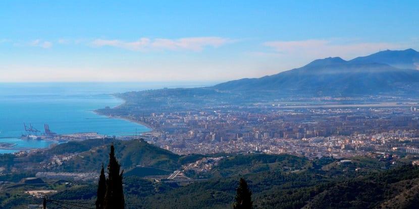 Vistas de los Montes de Málaga
