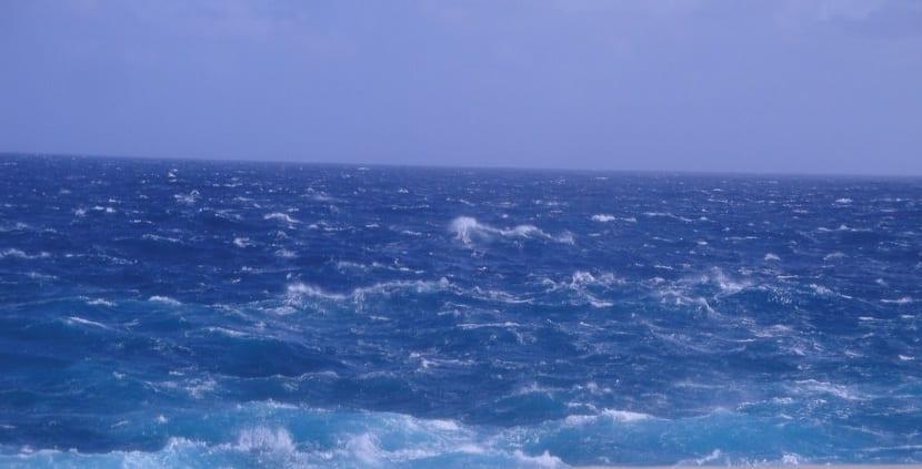 Aguas del océano atlántico