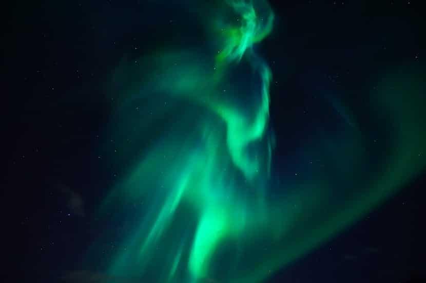 Auroras boreales gracias al campo magnético terrestre