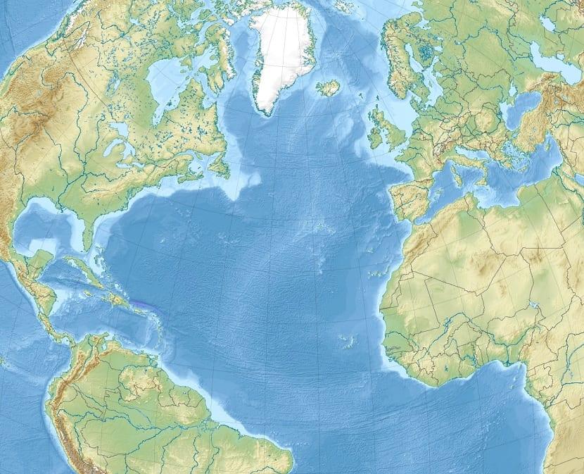 Superficie de todo el océano