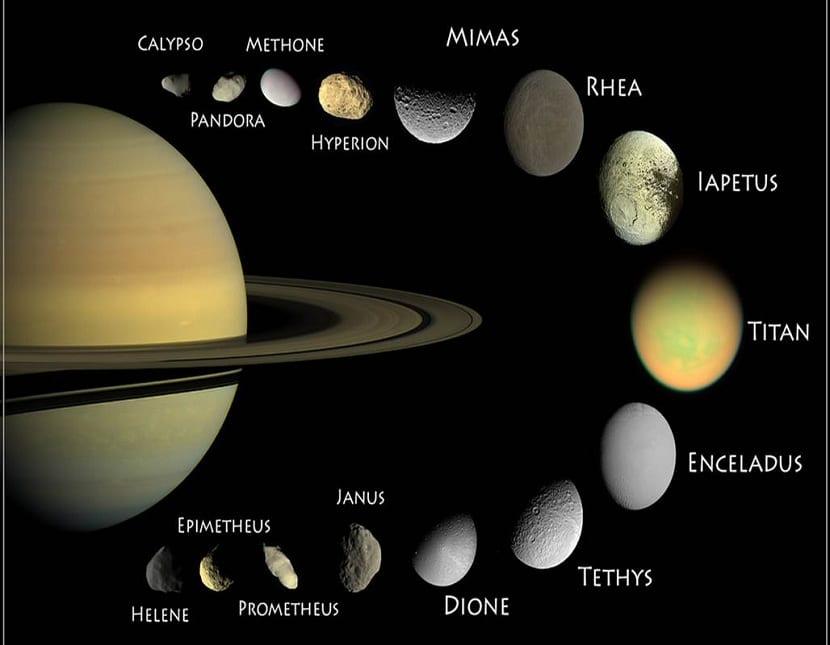 Lunas mas importantes de saturno
