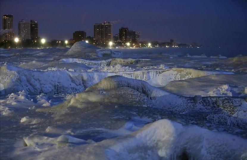 El viento congela las ciudades