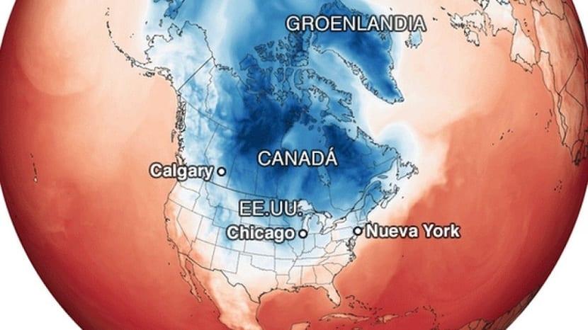 Ola de frio de Estados Unidos