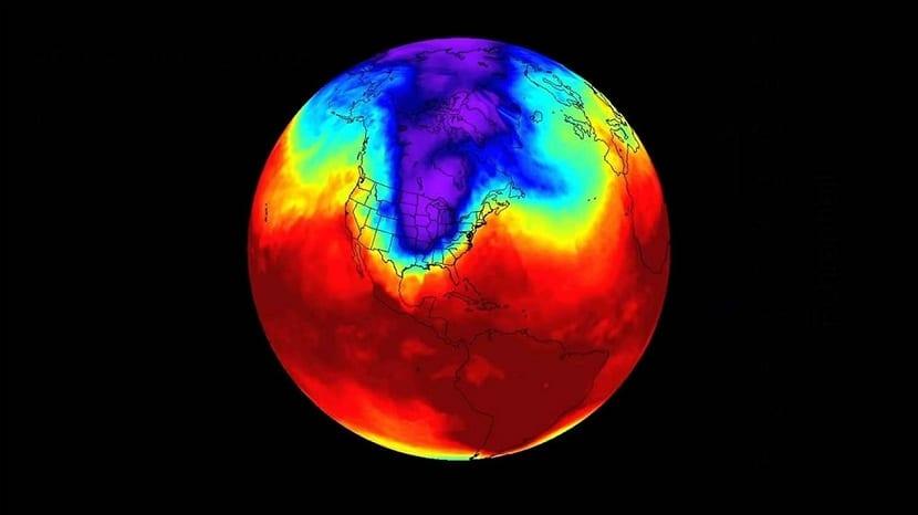 Temperatura baja por vórtice polar