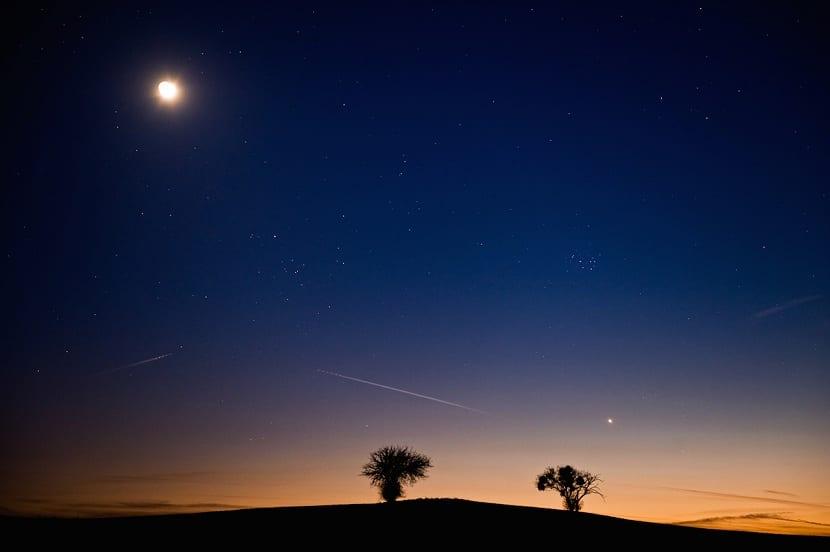 Constelación de Tauro en el cielo