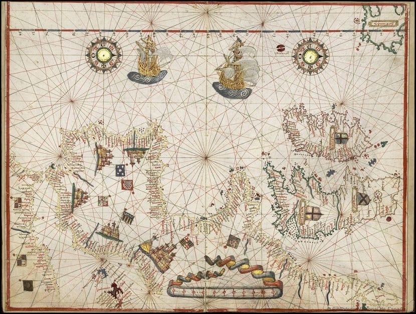 Mapas portulanos antiguos