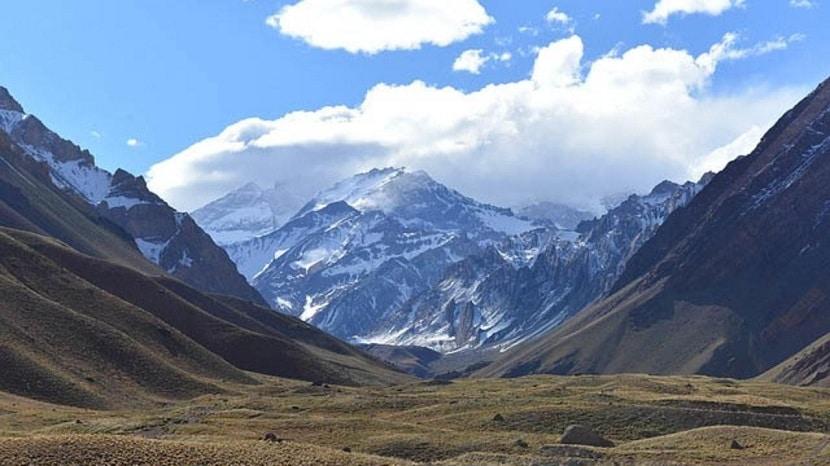 Paisajes de la cordillera de los Andes