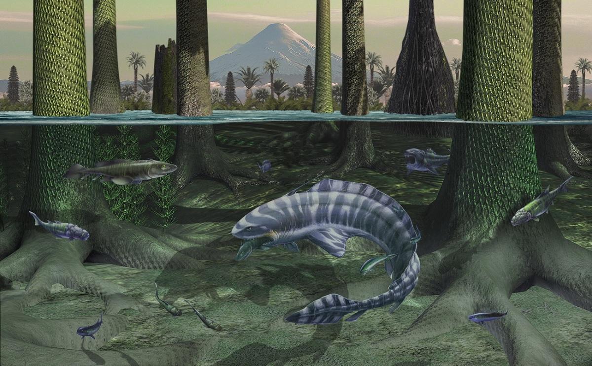 Mares durante el carbonífero