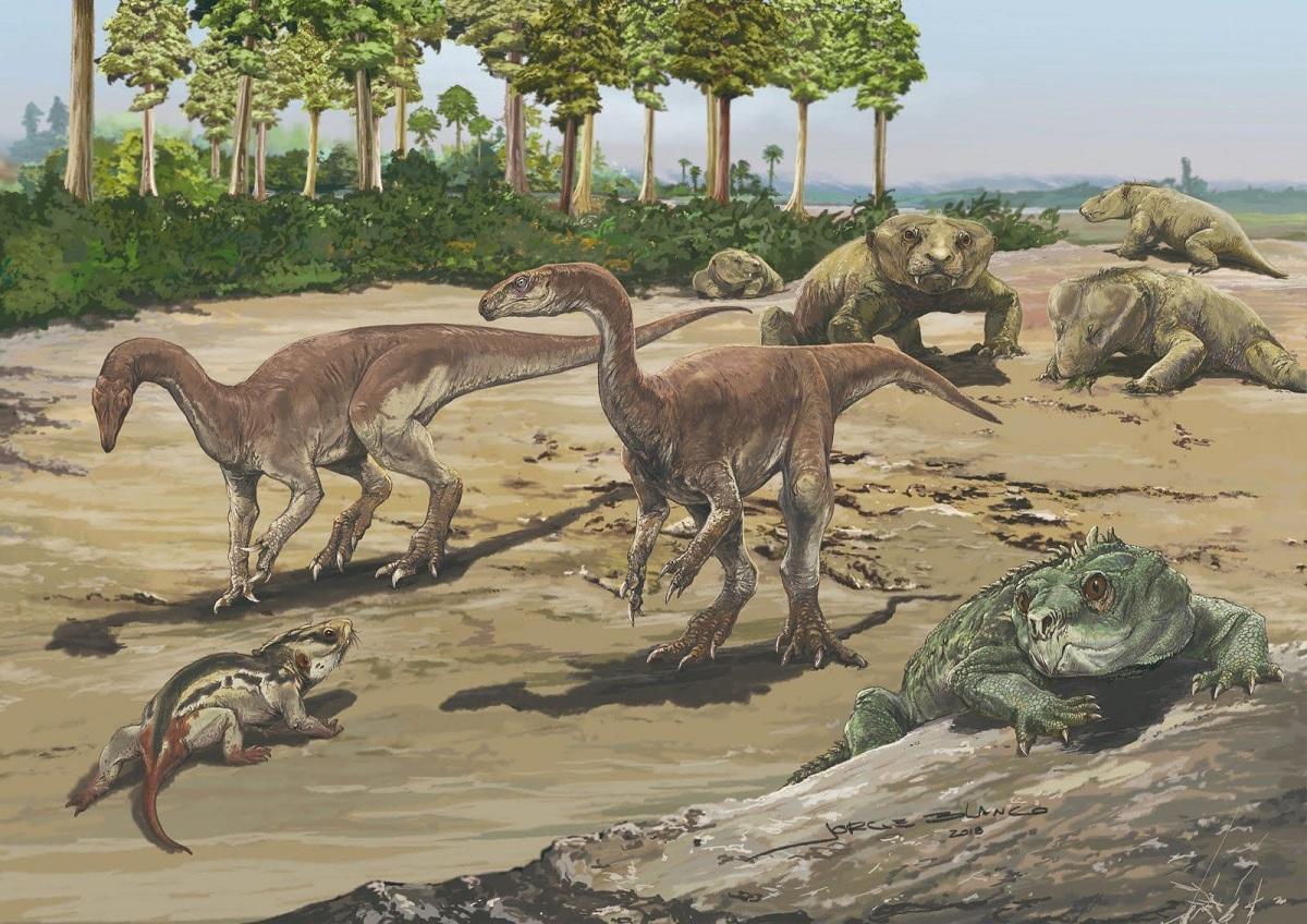 Desarrollo de la fauna del Triásico
