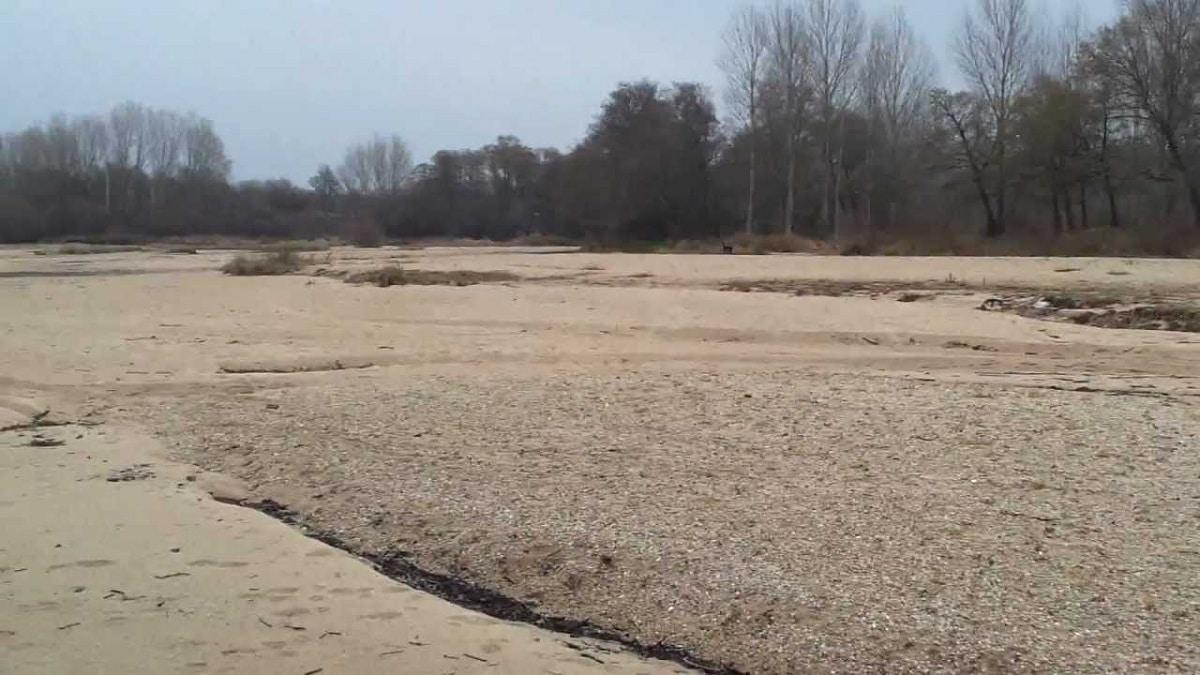 Rio de arena en Alberche