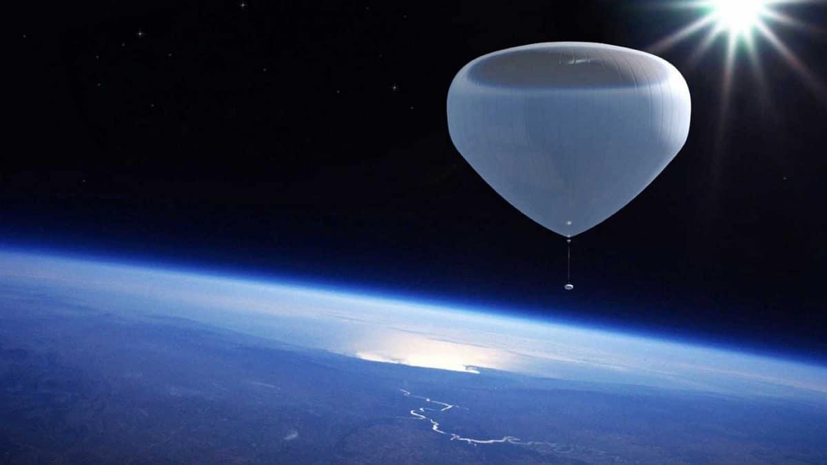 Globo sonda en la estratosfera