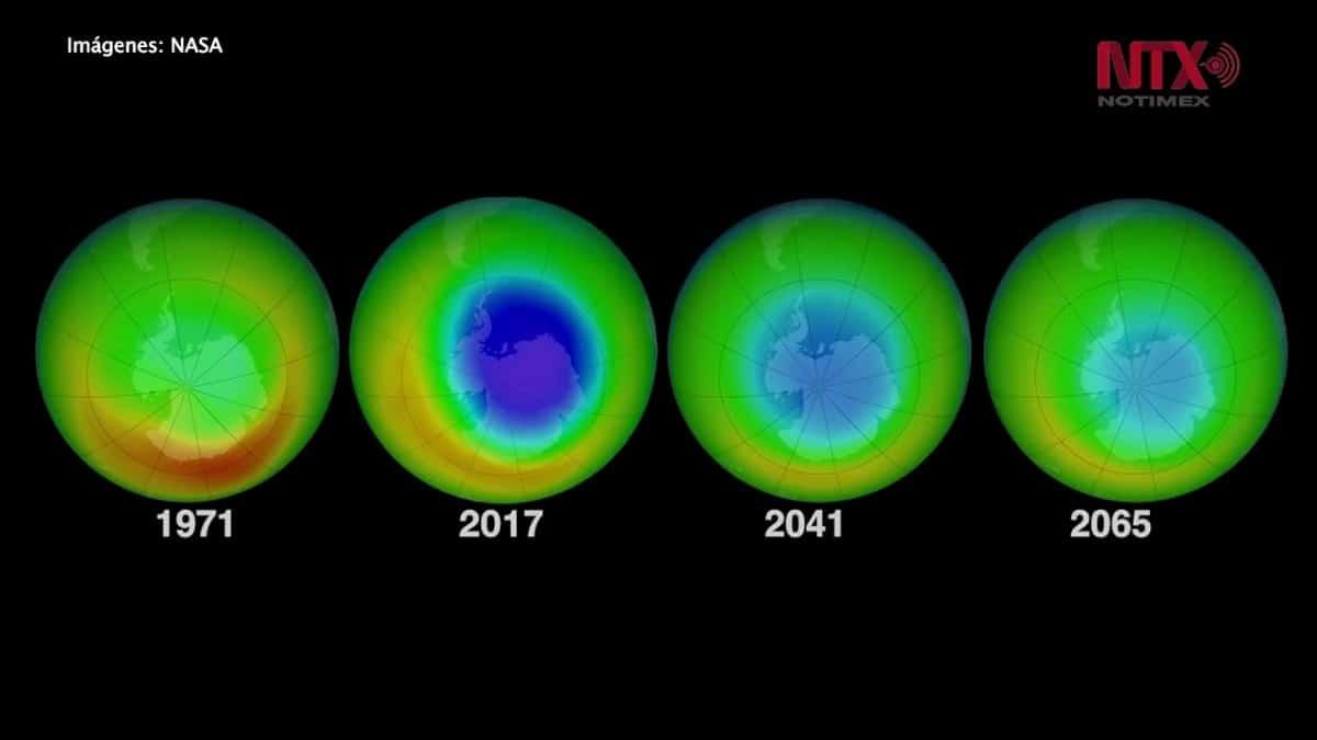 Mejora en el agujero de la capa de ozono