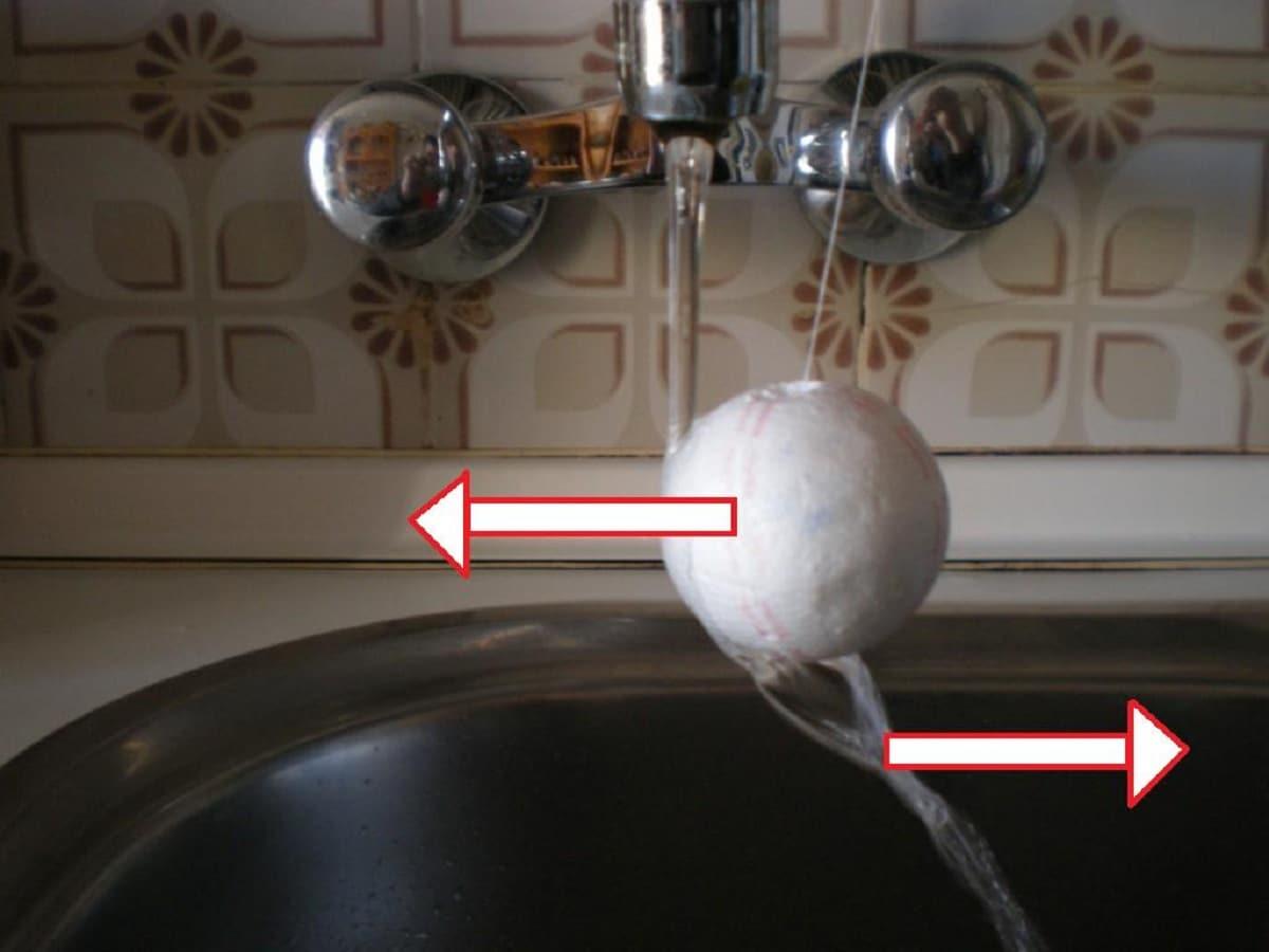 Efecto Coanda de fluidos