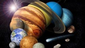 colores de los planetas del sistema solar