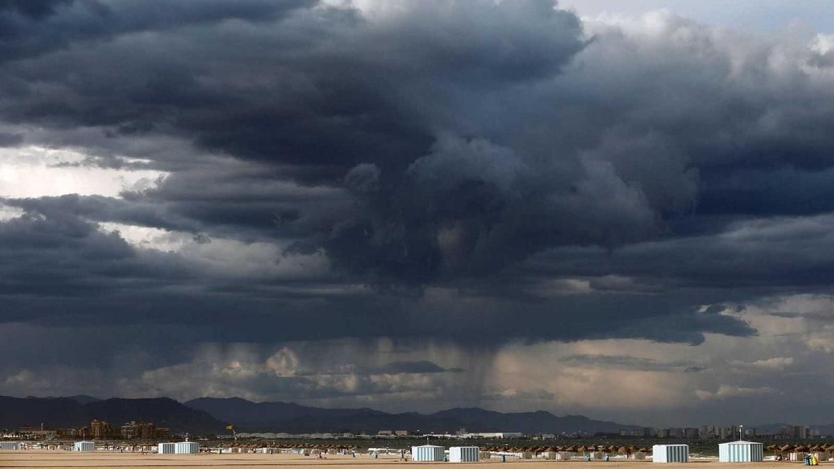 formación de lluvias torrenciales