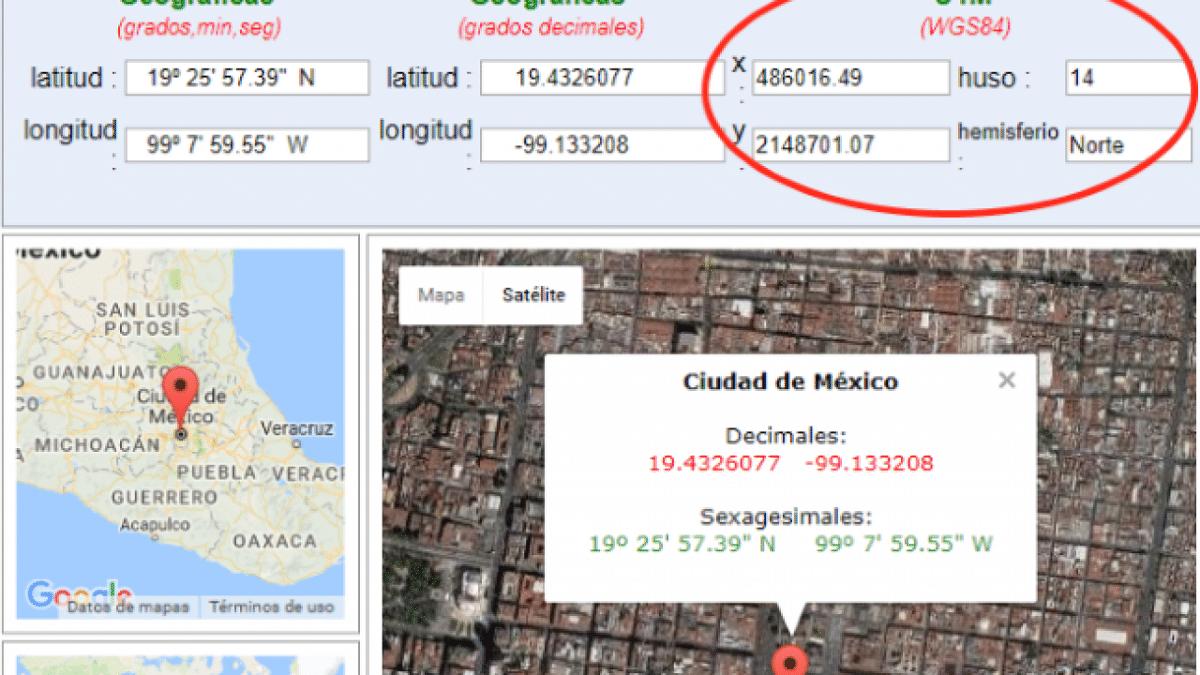coordenadas UTM mapa