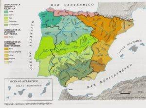 cuencas hidrograficas de España