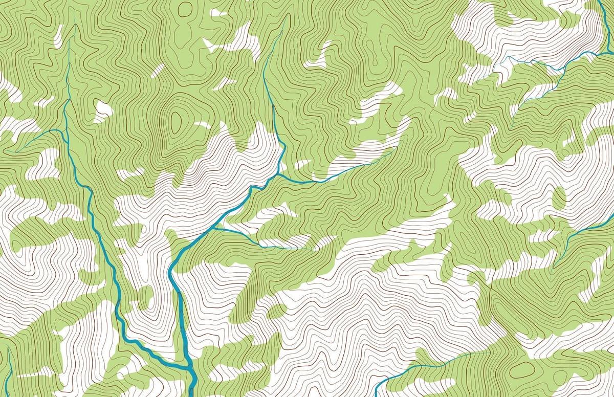 elementos de un mapa topografico