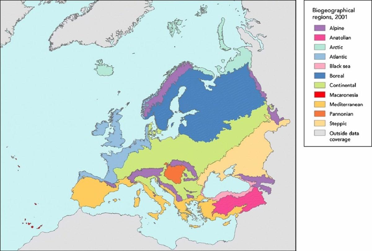 vegetacion de europa