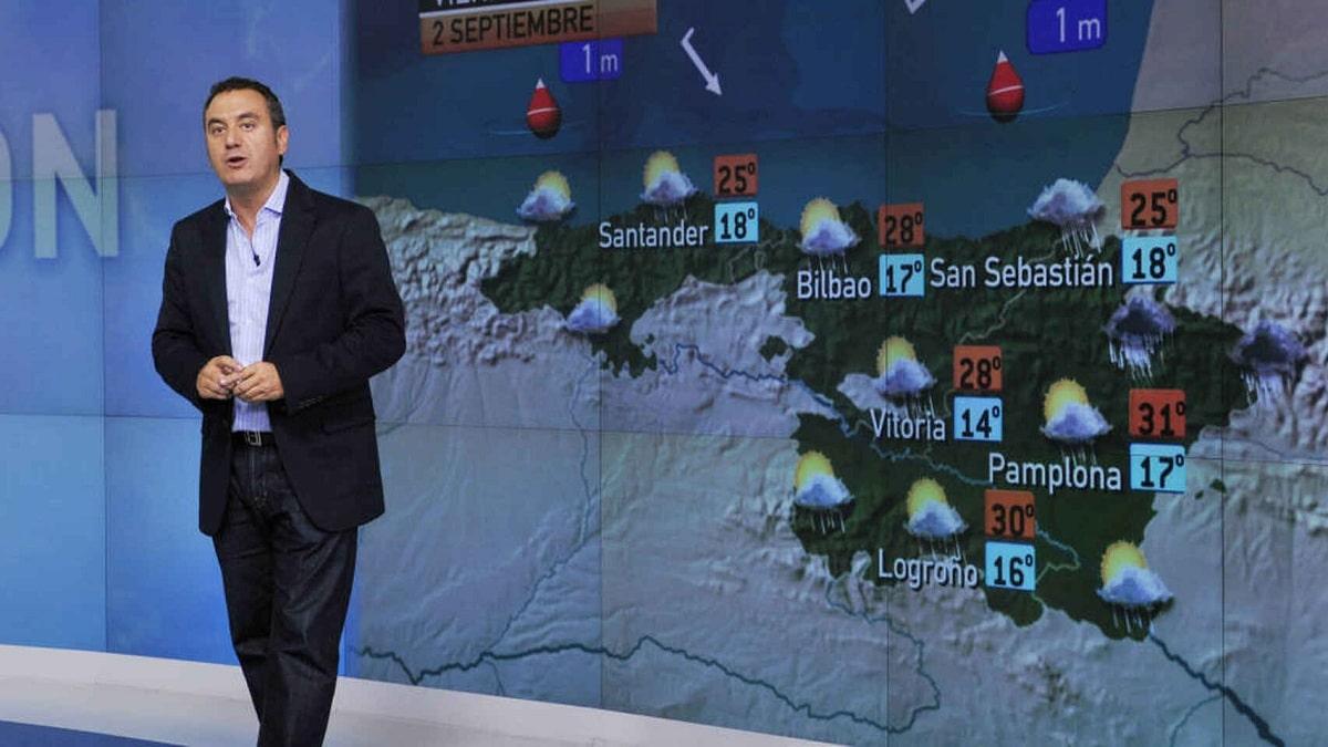 meteorologo en la tele