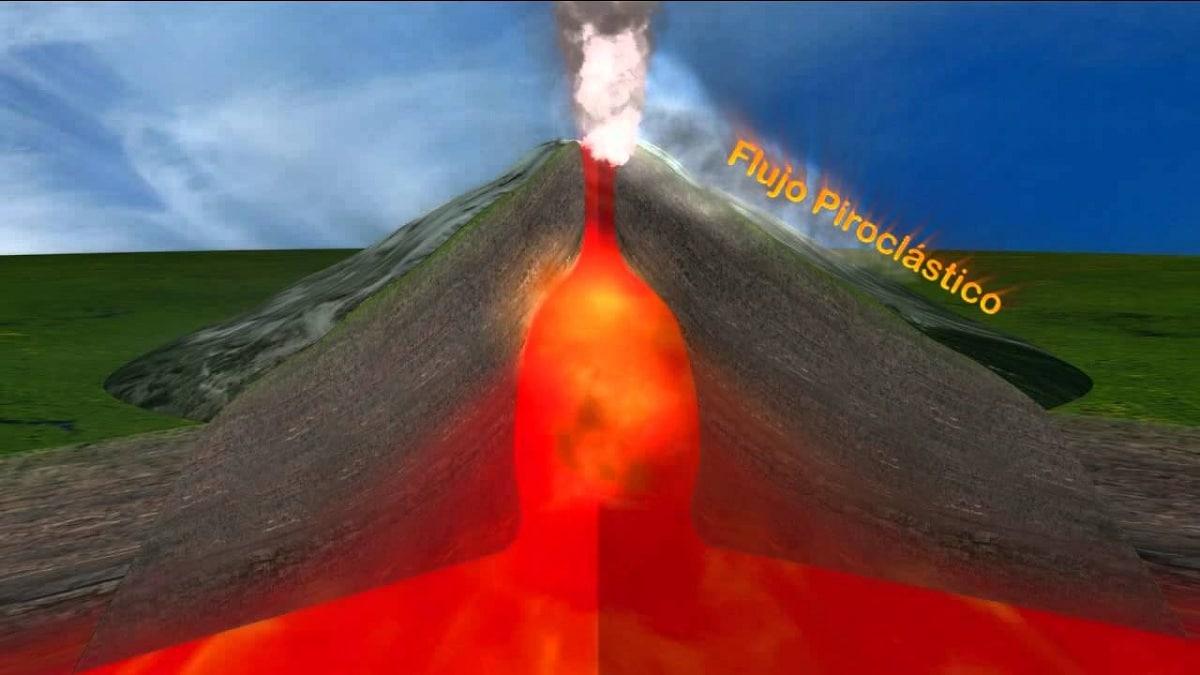 chimenea de un volcan