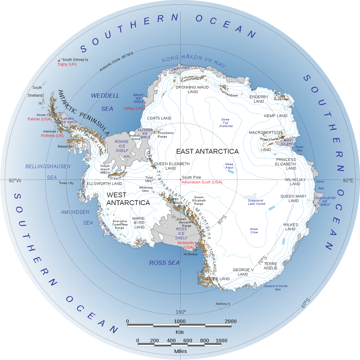 division de la antartida