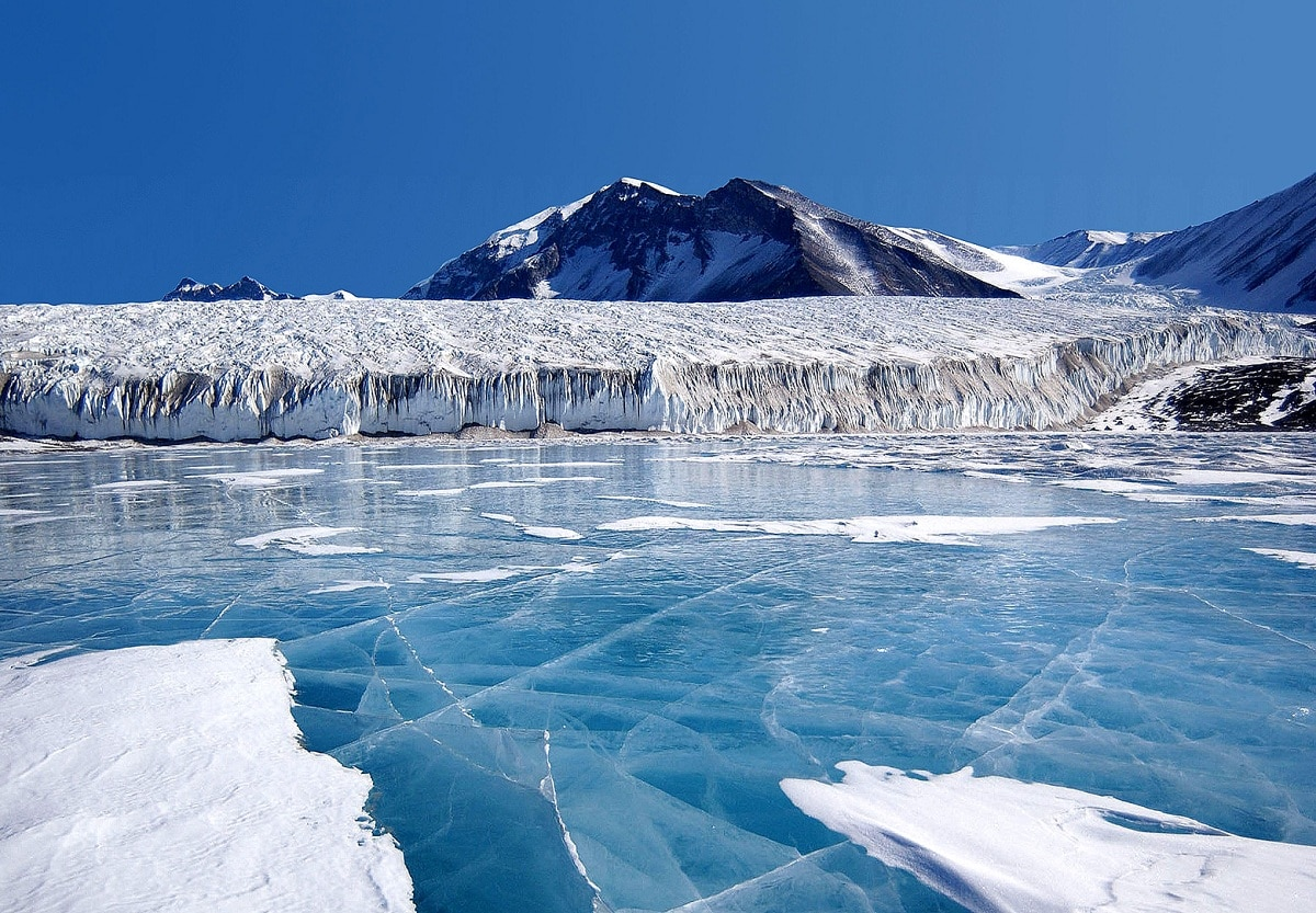 glaciares de la montañas transantarticas