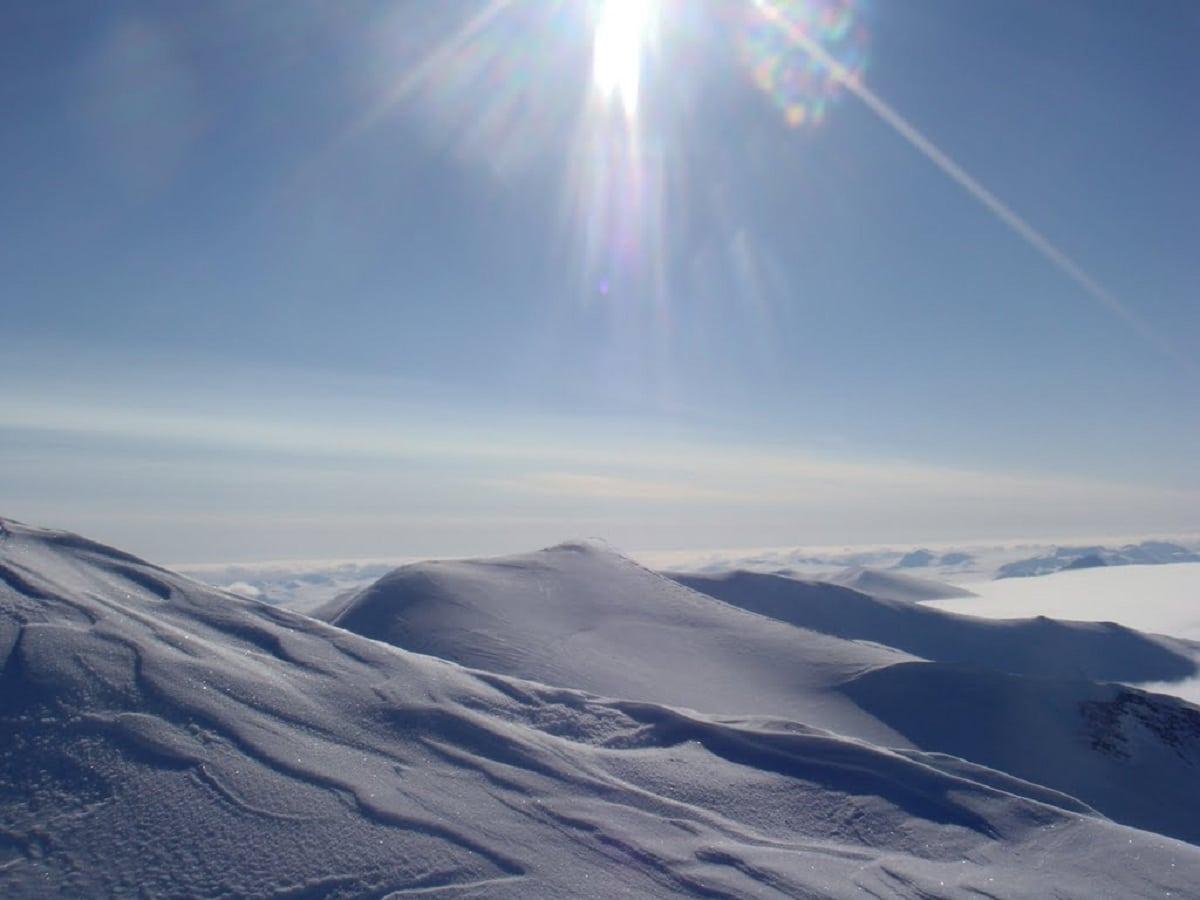 nieve en las cordilleras