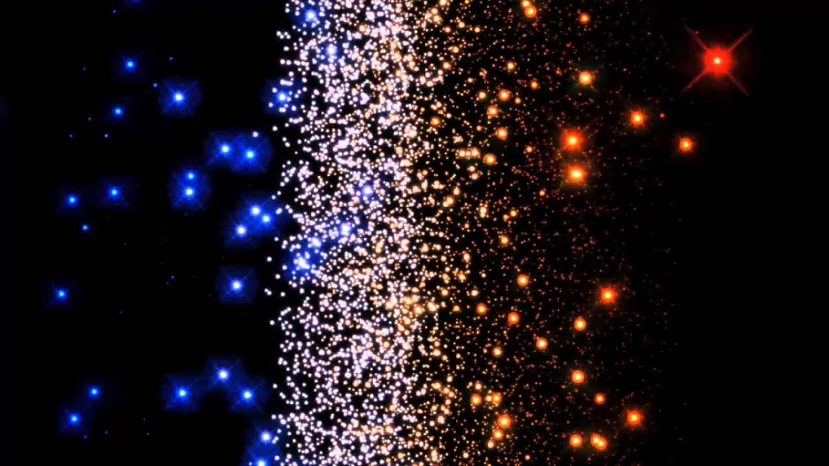 variedad de color de las estrellas