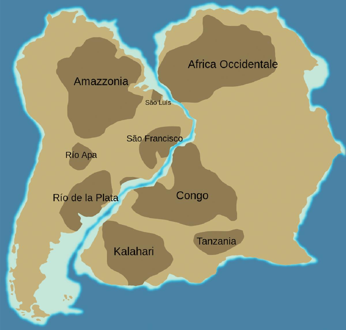 continentes juntos