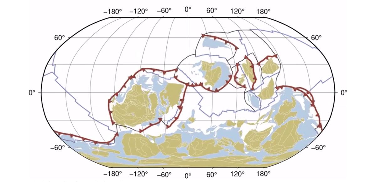 disposicion de los continentes en tiempos pasados