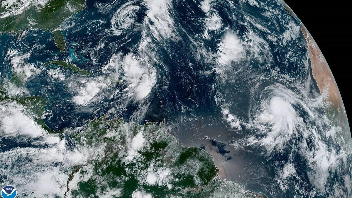 huracan en la zona del mediterraneo
