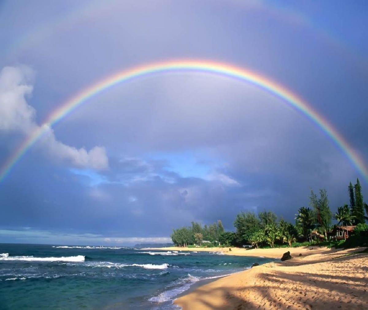 arcoiris despues de la lluvia