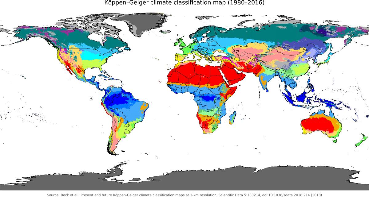 clasificacion climatica koppen