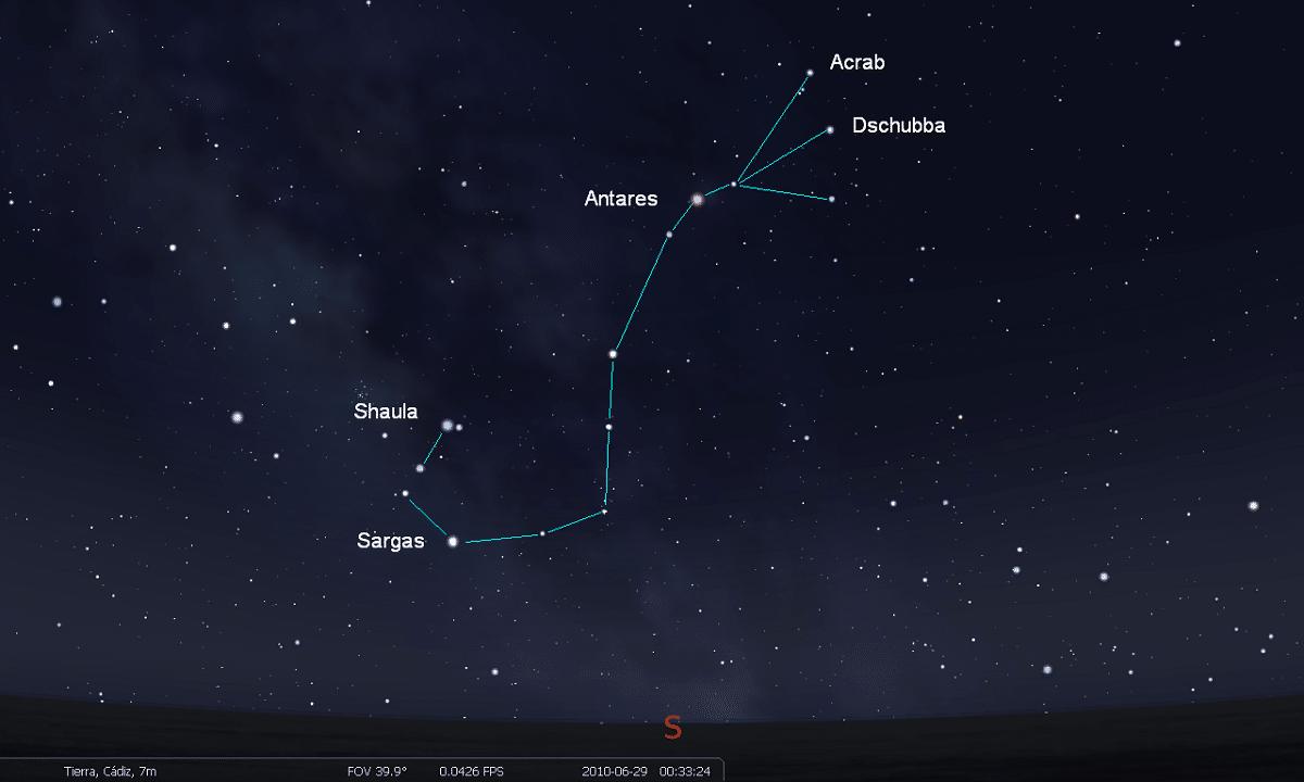 constelacion del escorpio y sus estrellas