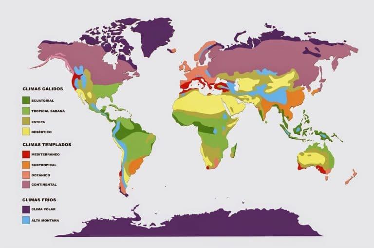 division de la clasificacion climatica koppen