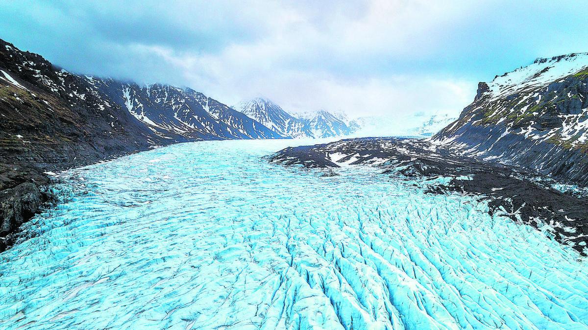 glaciar de montaña