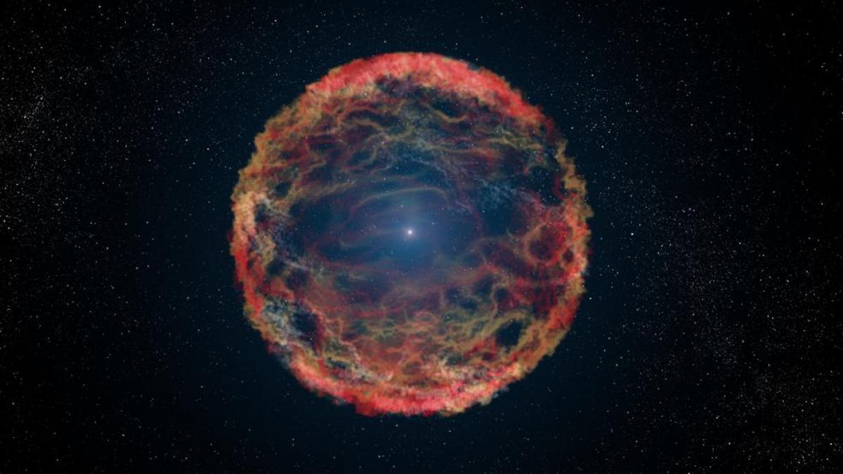 como se forma un agujero negro en el espacio
