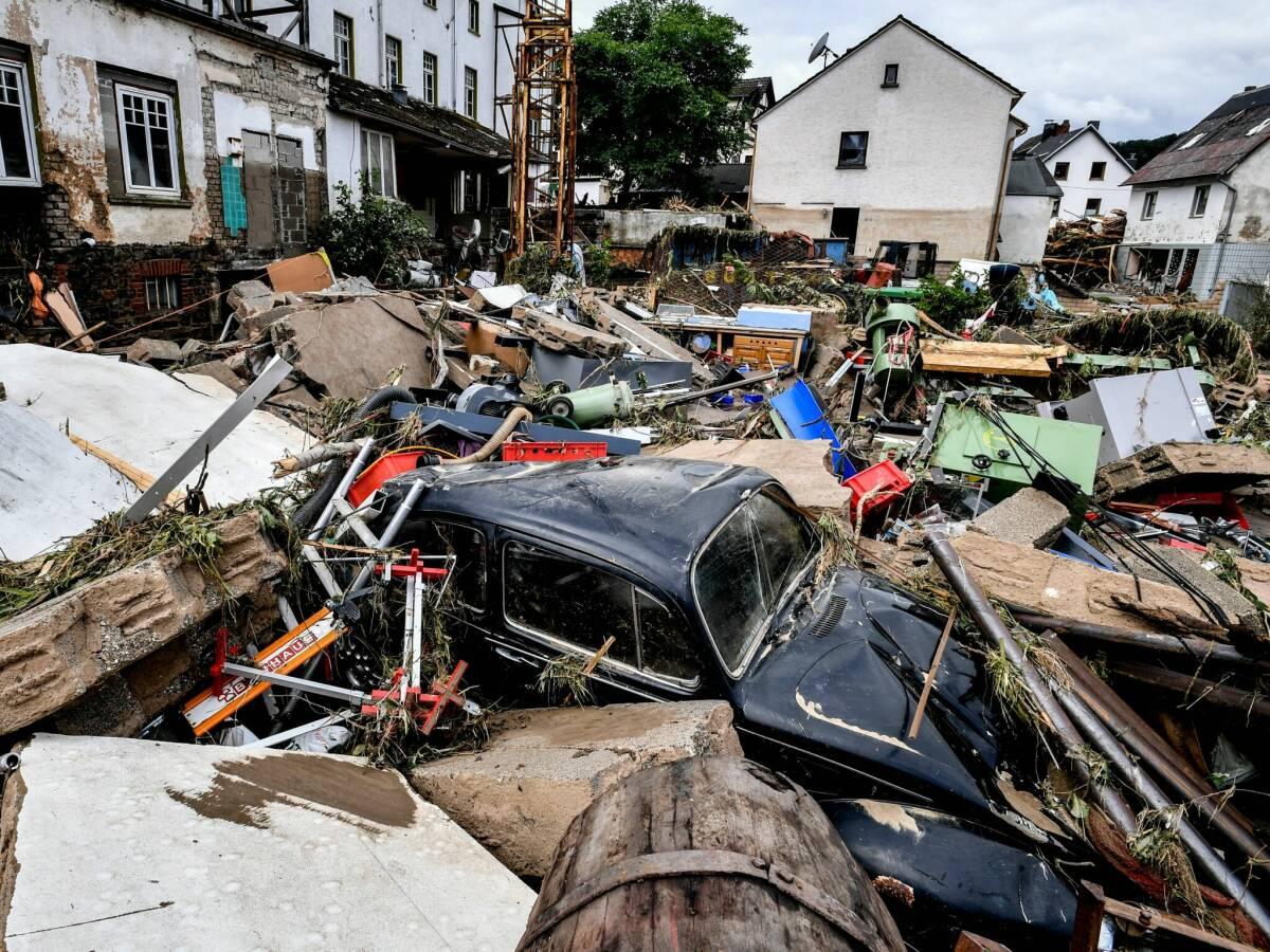 destrozos por las inundaciones en Alemania