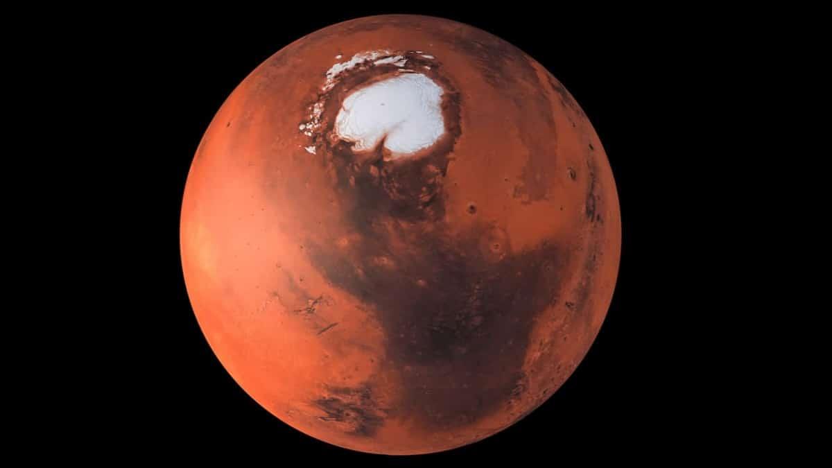 polo sur del planeta rojo