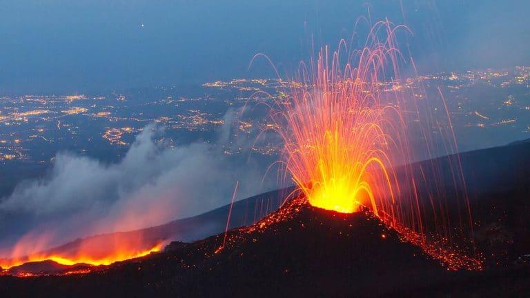 erupciones del volcan etna