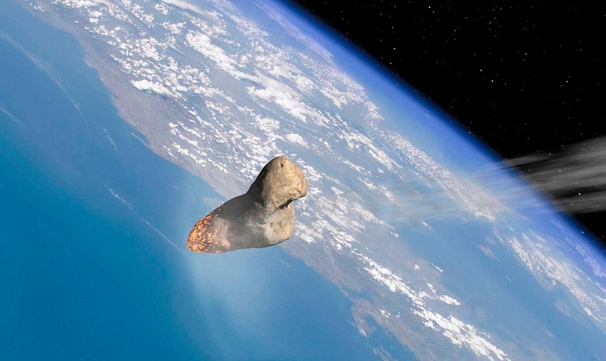 meteorito que cae en la tierra